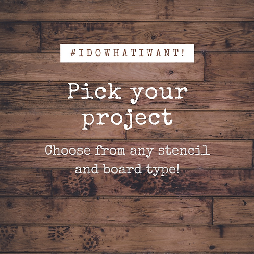 03/27 from 6-9pm   Pick Your Project #IDOWHATIWANT