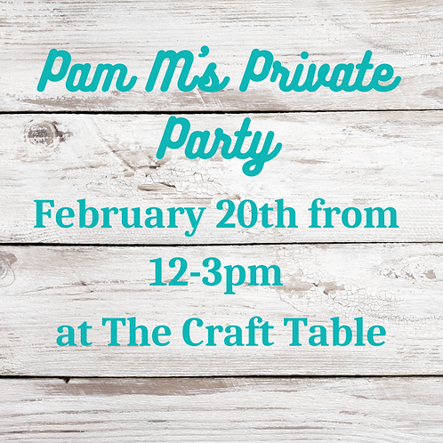 01/20 from 12-3 Pam M.'s Private Party