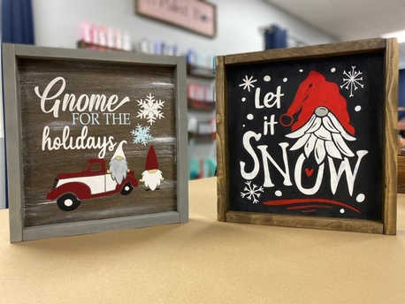 12x12 Framed Gnomes EXAMPLES