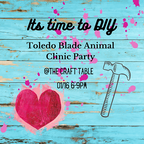 01/16 6-9pm  Toledo Blade Animal Clinic  Private Party