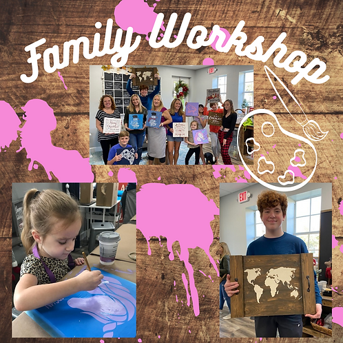 Family Workshop 03/28 from 12-3pm