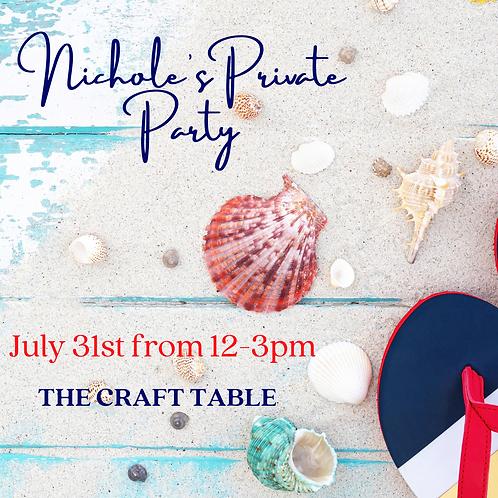 07/31 12-3pm Nicholes Private Party!