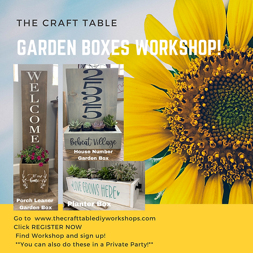 Garden Boxes Workshop  05/22 6-9pm