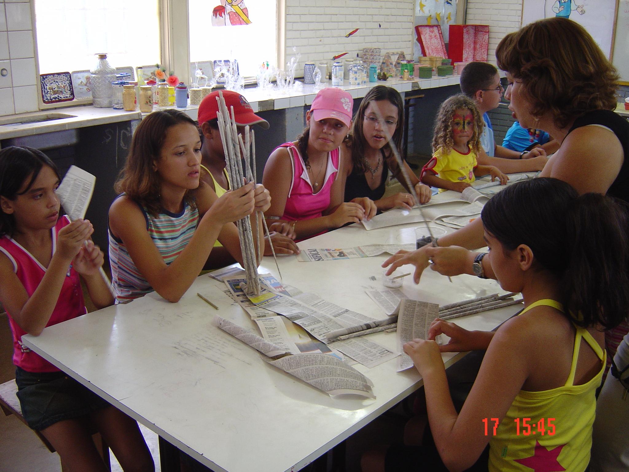 aula de artesanato