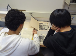 Elfry and Franklin reading a primary source