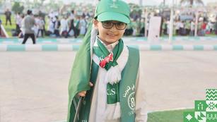 مدارس عبدالرحمن فقيه تكتسي اللون الاخضر في ذكرى اليوم الوطني 89