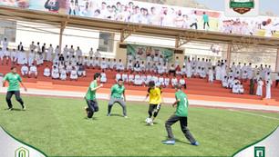 انطلاق دوري كرة القدم بثانوية عبدالرحمن فقيه النموذجية
