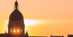 Sonnenuntergang Christuskirche