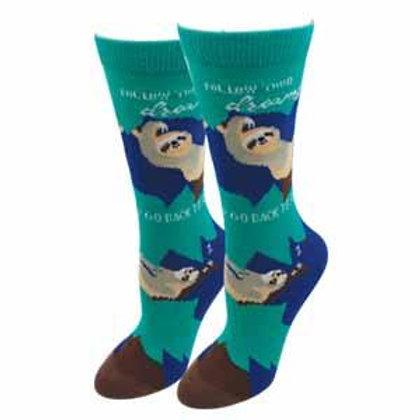 Follow Your Dreams, Go Back To Sleep Womens Socks