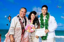 Beach wedding in Kailua-125