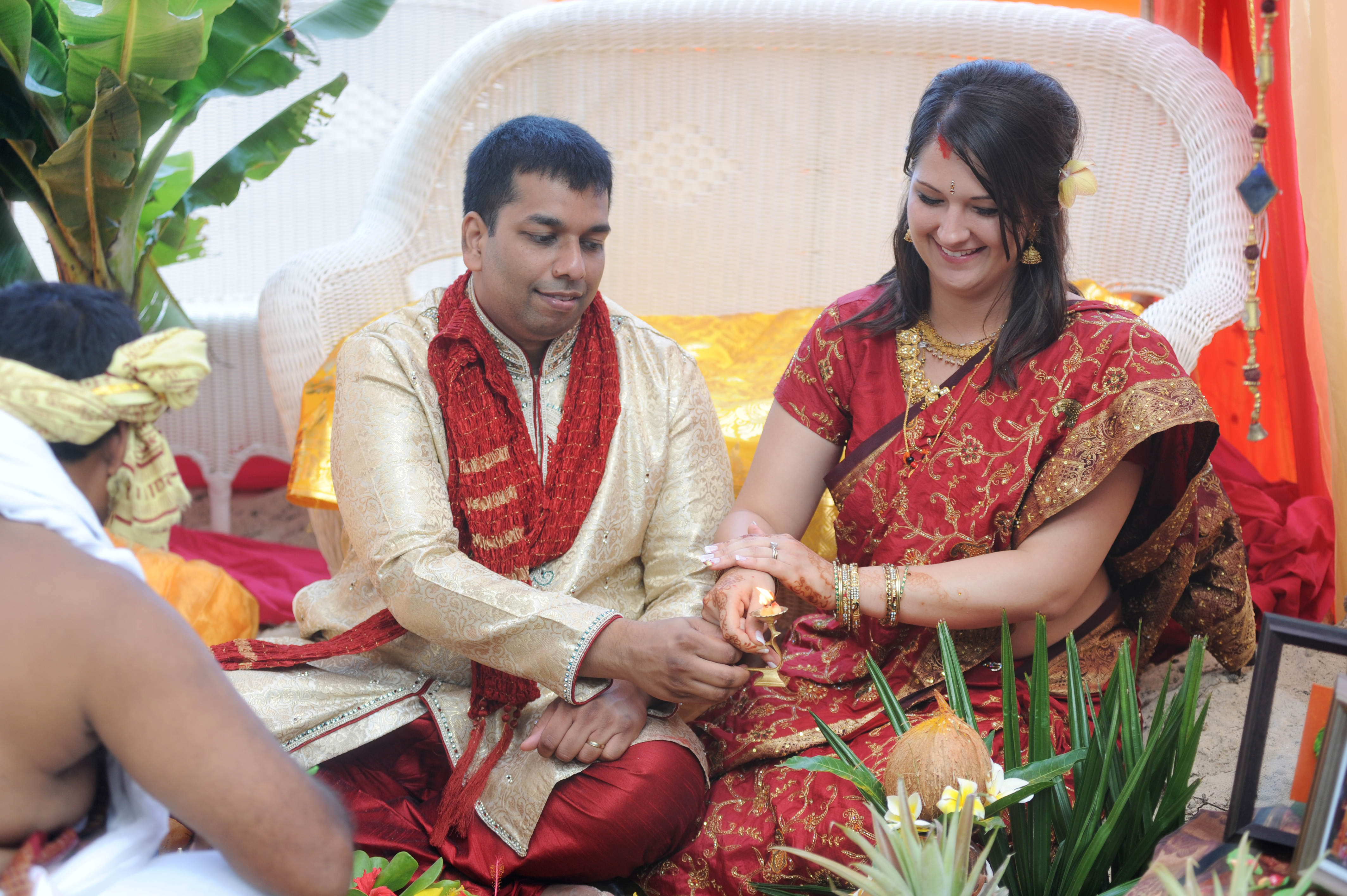 Hawaiian Indian Wedding Ceremony -36