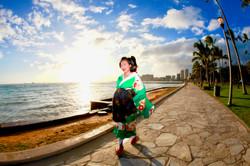 Japanese girl picture walking