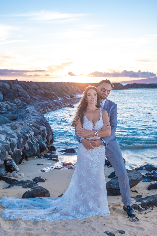 Magic island Hawaii beach wedding -48