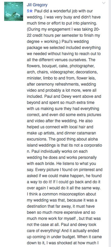 Hawaii Wedding review 37