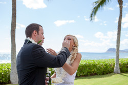 Wedding ceremony at paradise cove