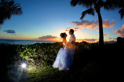 Sunset hawaii Wedding Picture -13