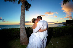 Sunset hawaii Wedding Picture -1