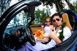 alohaislandweddings- Lotus car -36