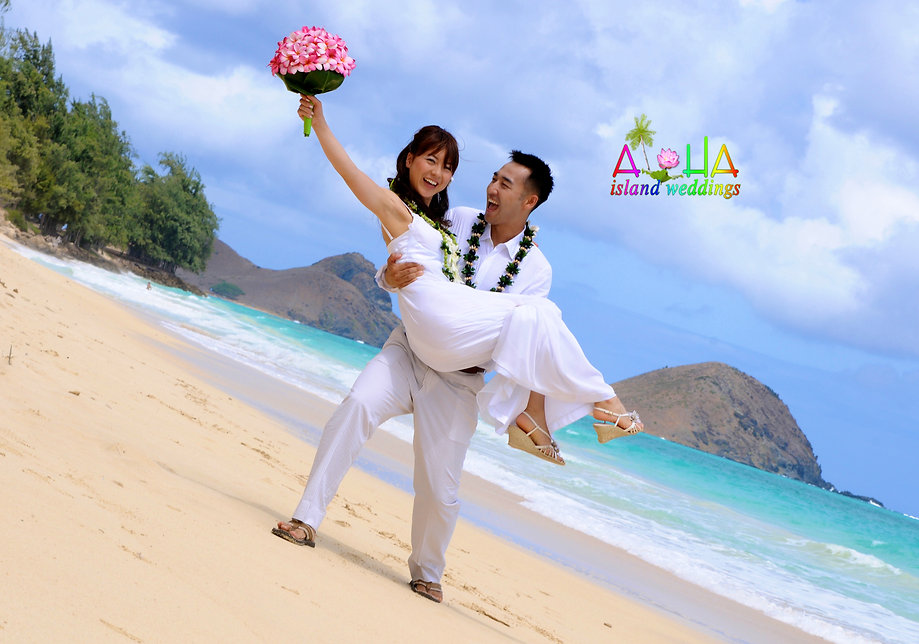 Japanese wedding in Hawaii Oahu