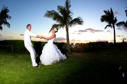Sunset hawaii Wedding Picture -18