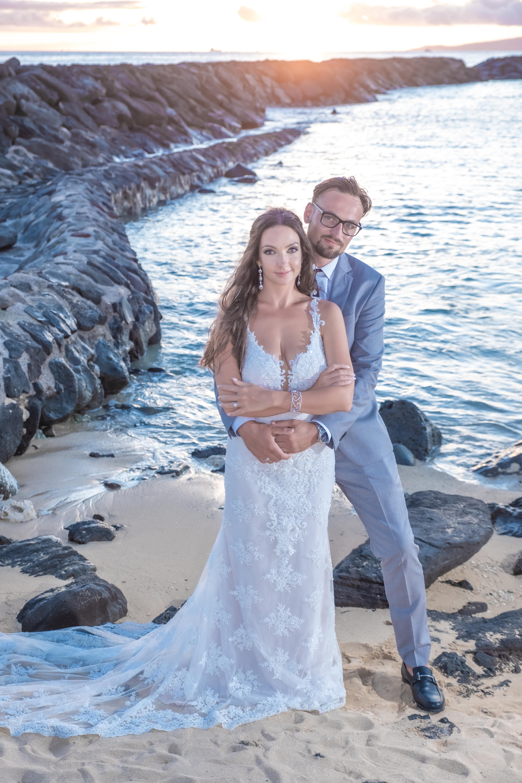 Magic island Hawaii beach wedding -49