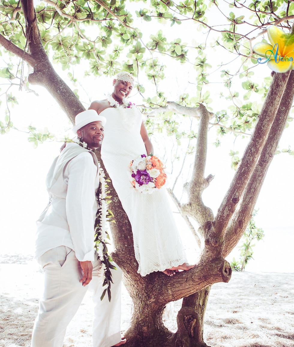 Wedding picture - North Shore Oahu Hawai