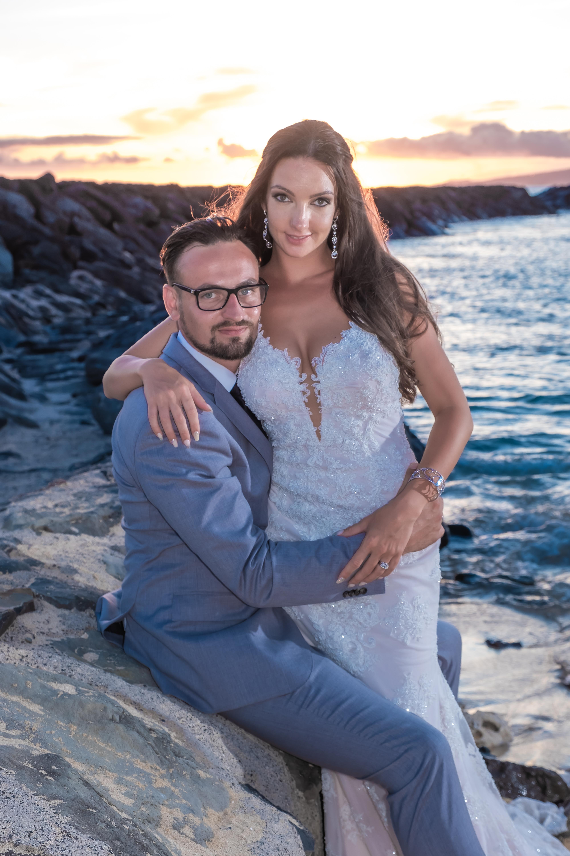 Magic island Hawaii beach wedding -443