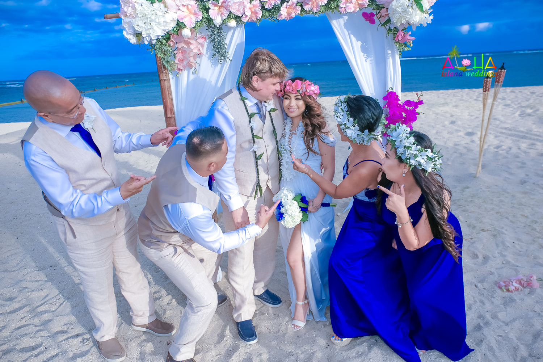 Waialae beach wedding-1