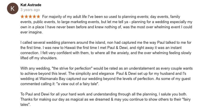Hawaii Wedding review 88