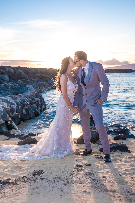 Magic island Hawaii beach wedding -57