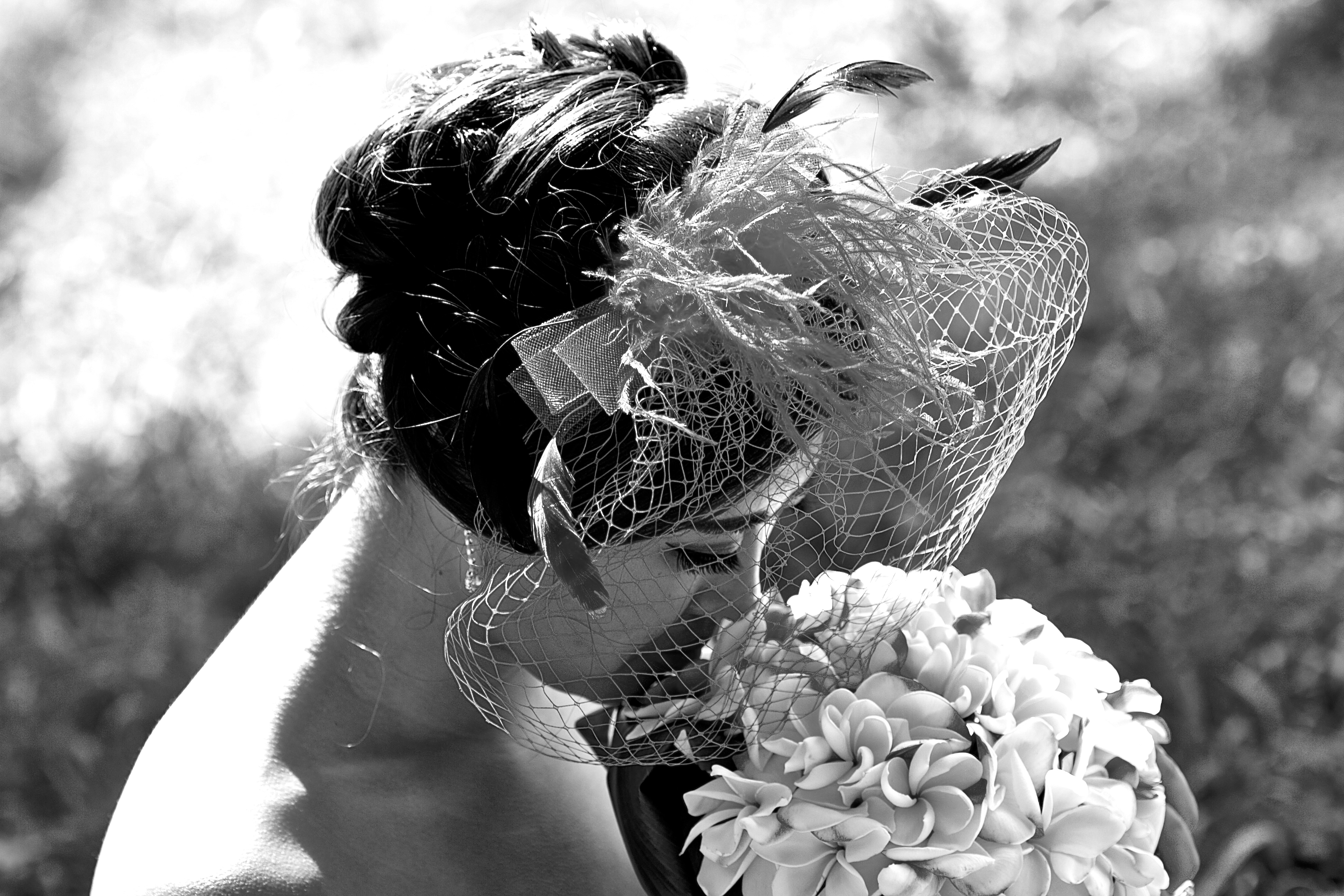 Hawaii wedding picture of the bride