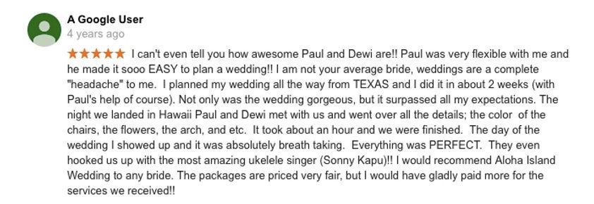 Hawaii Wedding review 32