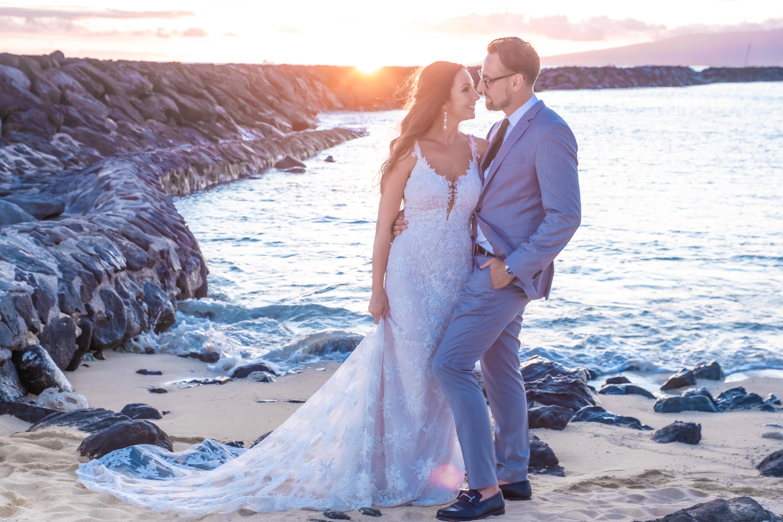 Magic island Hawaii beach wedding -37
