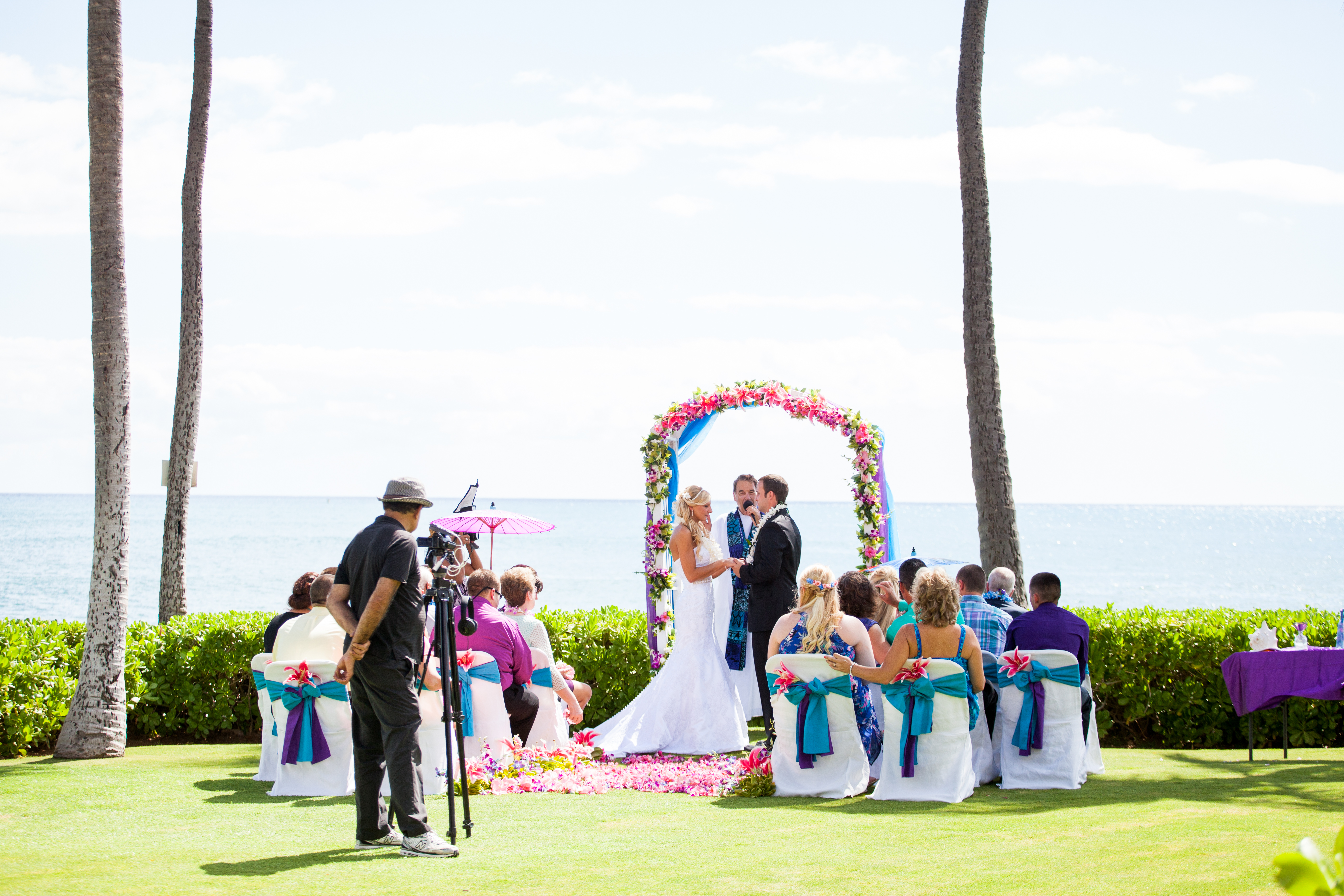 flowers with white wedding Arch 39