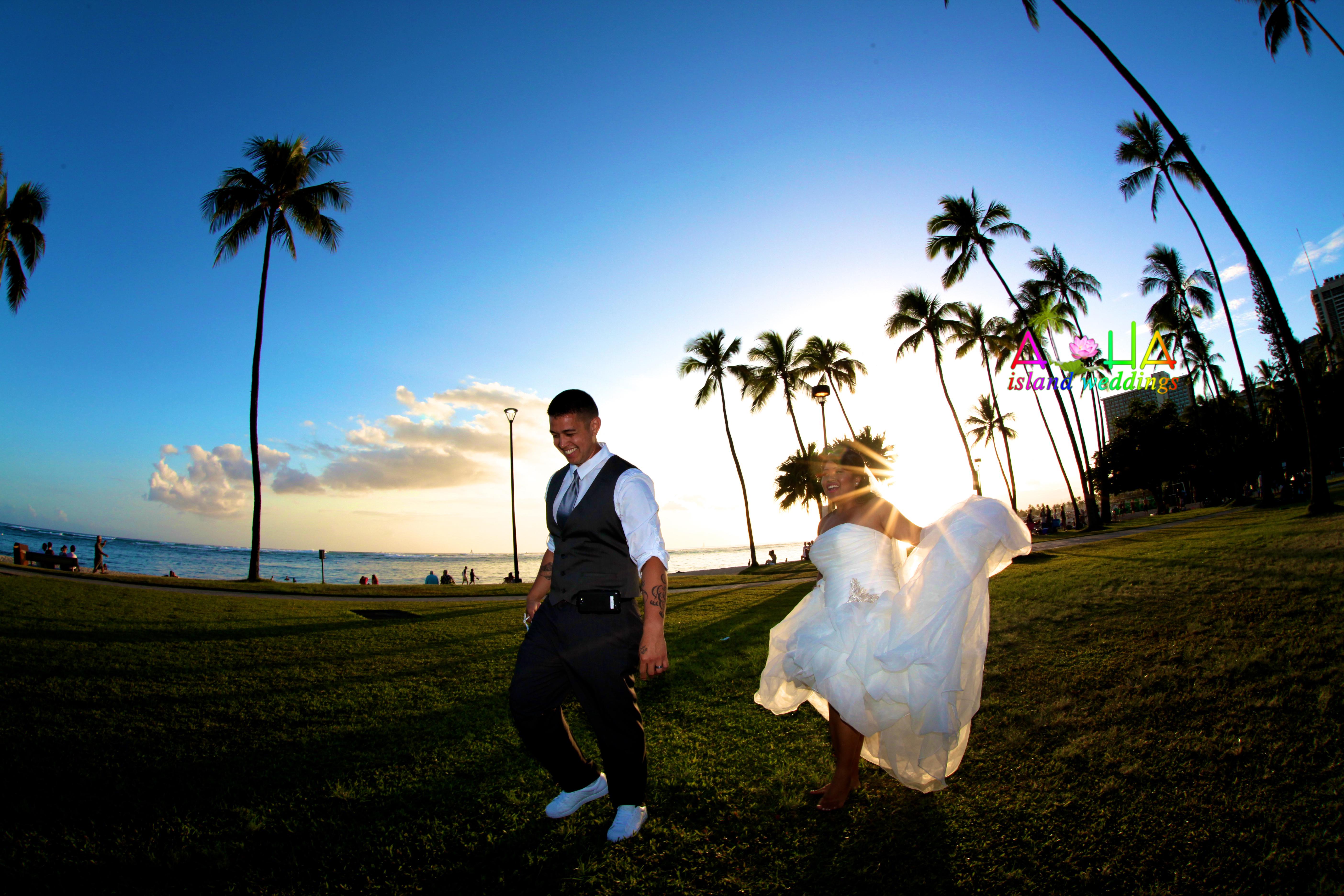 sunset wedding in Hawaii 8