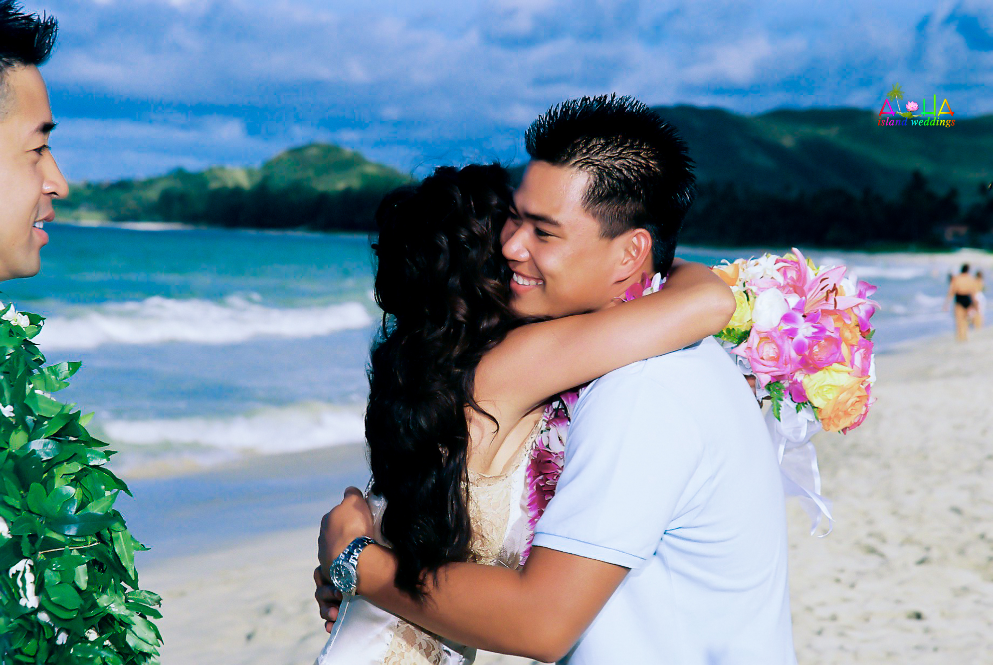 Beach wedding in Kailua-121