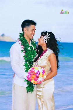 Beach wedding in Kailua-74