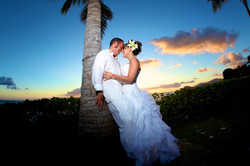 Sunset hawaii Wedding Picture -9