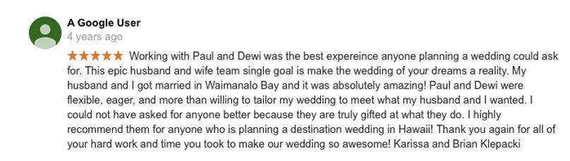 Hawaii Wedding review 35
