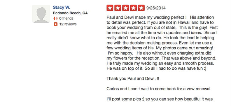 Review from wedding couples 16