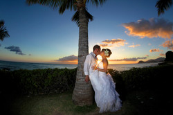 Sunset hawaii Wedding Picture -7