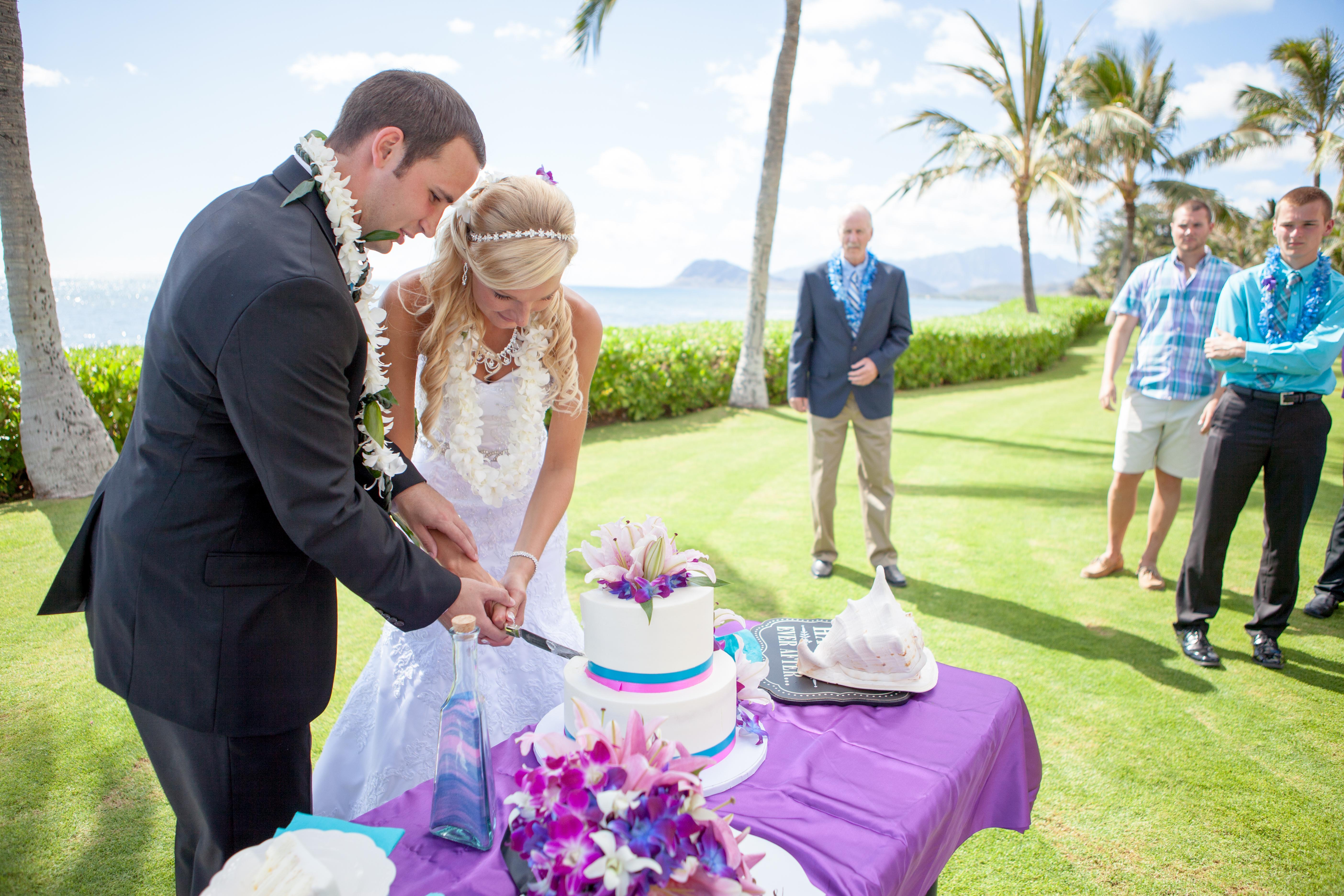 Wedding ceremony at paradise cove  2