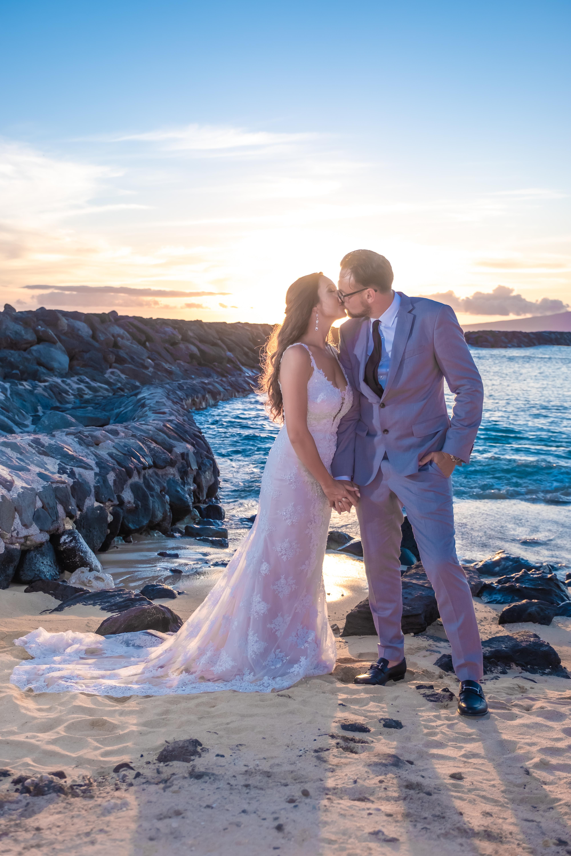 Magic island Hawaii beach wedding -53
