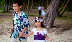 Flowers girl in Hawaii