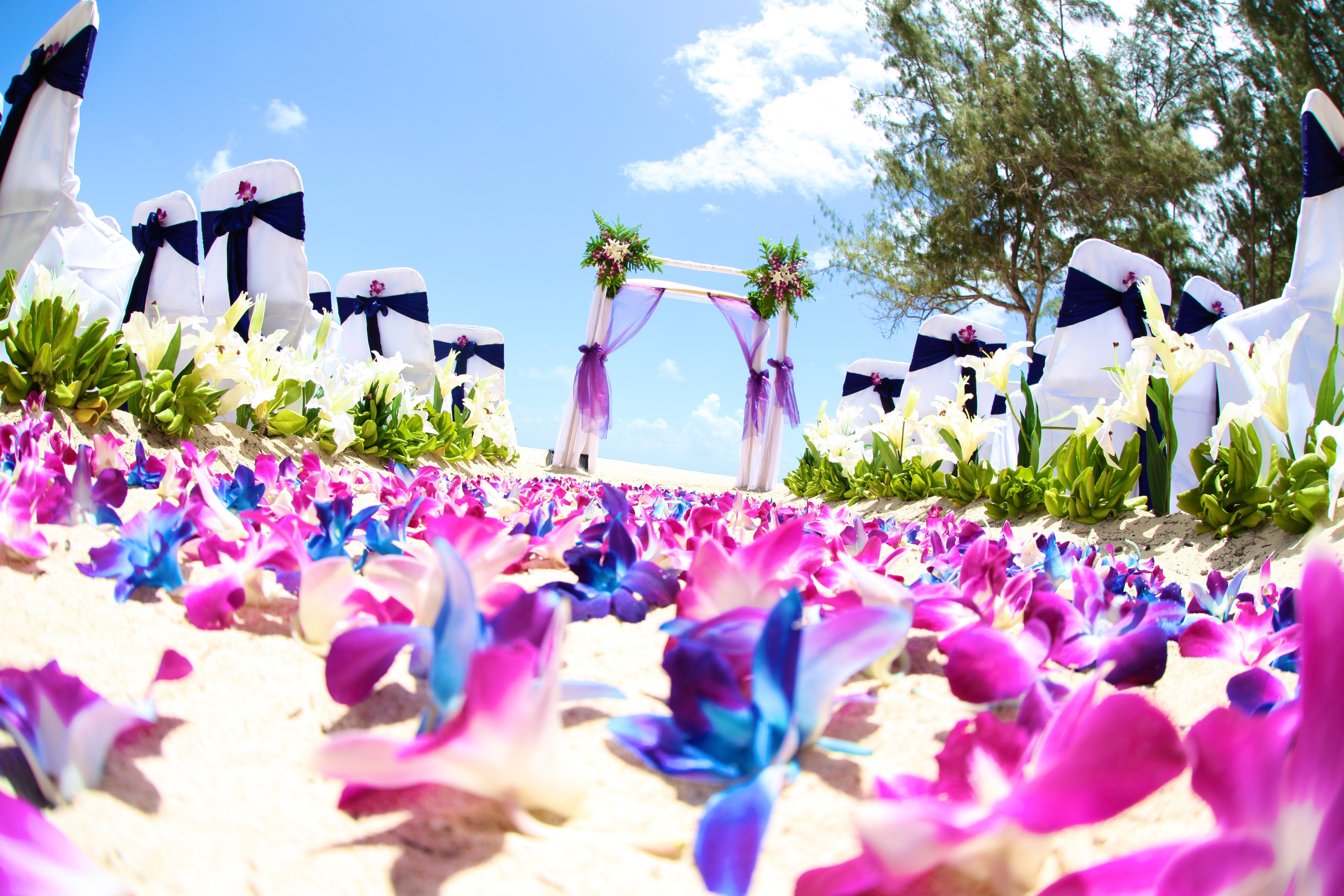 Orchid wedding in Hawaii5