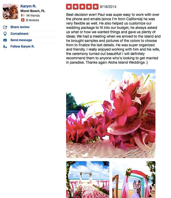 Wedding in Hawaii reviews4