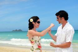 Hawaii beach wedding - lotus car 27