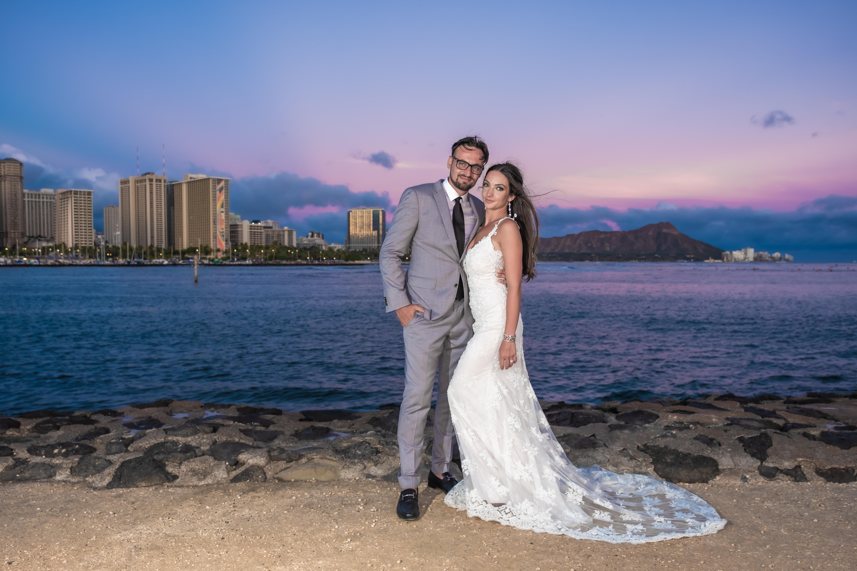Magic island Hawaii beach wedding -20