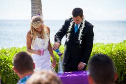 Wedding in Hawaii sand ceremony 3