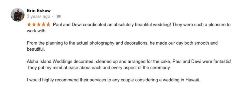 Hawaii Wedding review 99